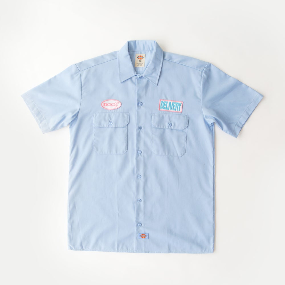 Image of DoCg DELIVERY WORKWEAR SHIRT (BLUE)