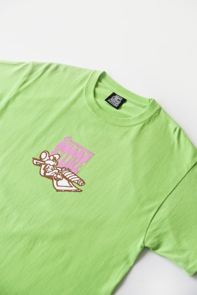 Image of CONVENIENCE STORE TEE (LIME)