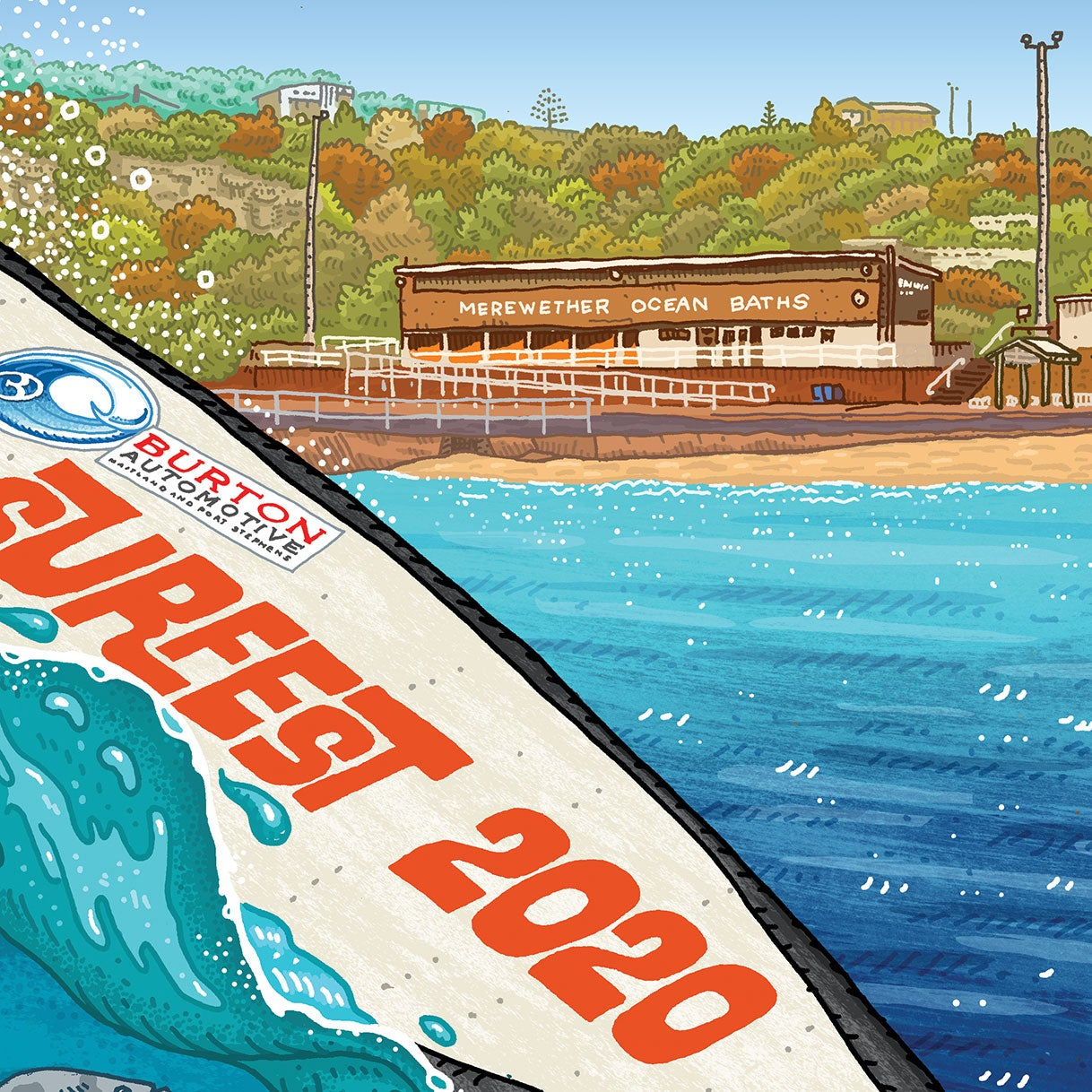 Image of Surfest 2020 Signed Digital Print
