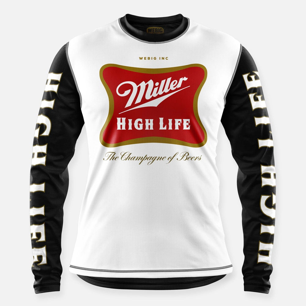 Image of HIGH LIFE JERSEY WHITE-BLACK