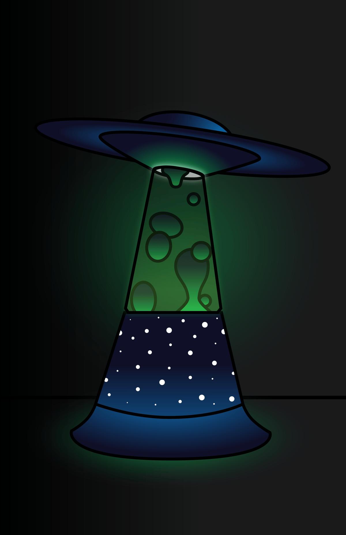 UFO Lava Lamp Print