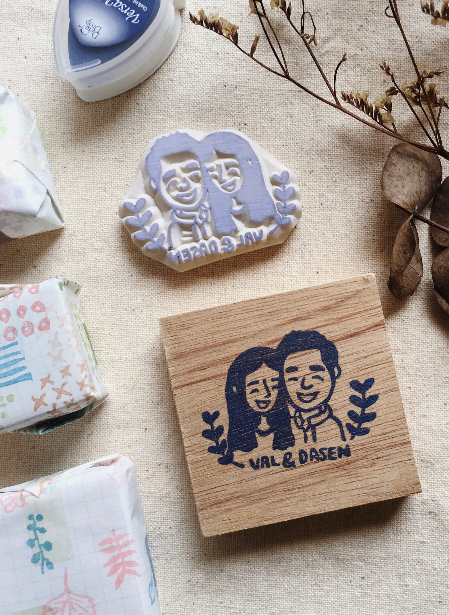 Customized Couple Rubber Stamp