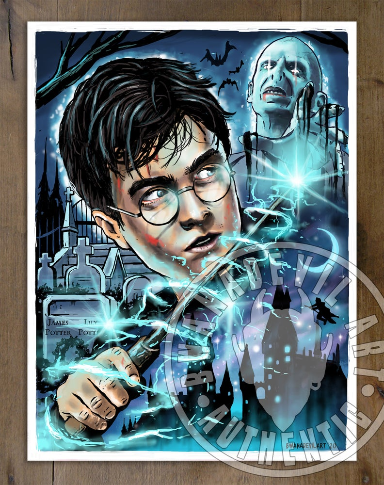 Image of Harry Potter art print