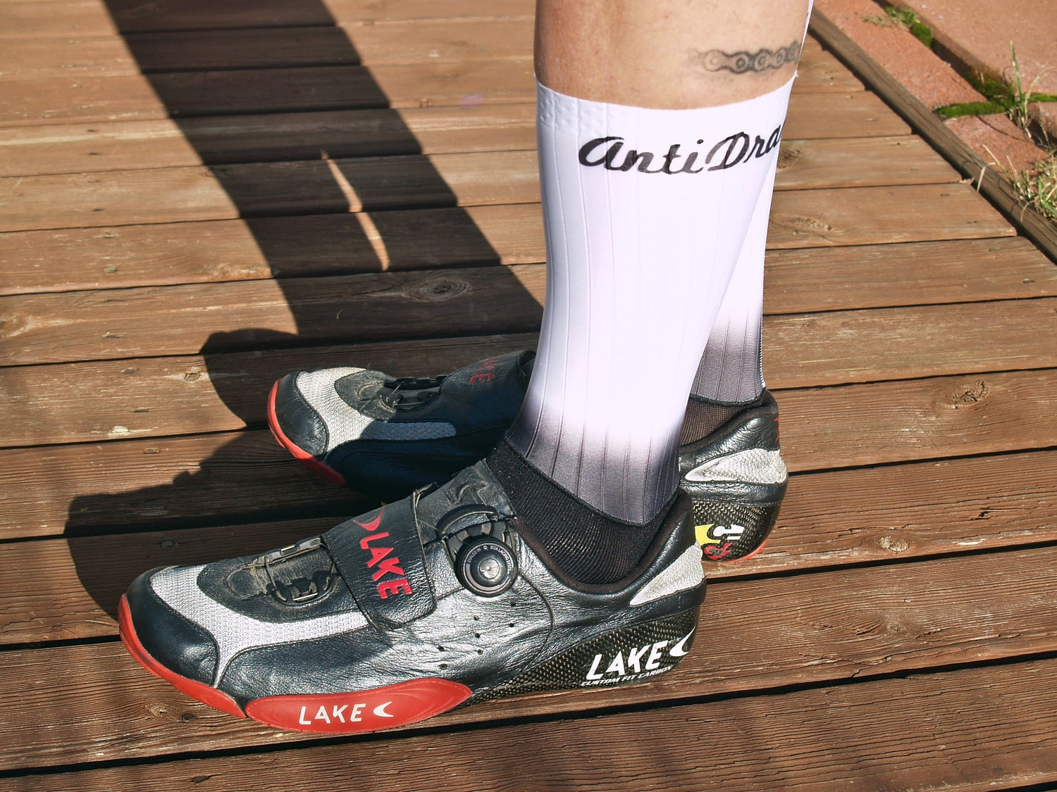 Image of The AERO Cycling Sock - Fade to white