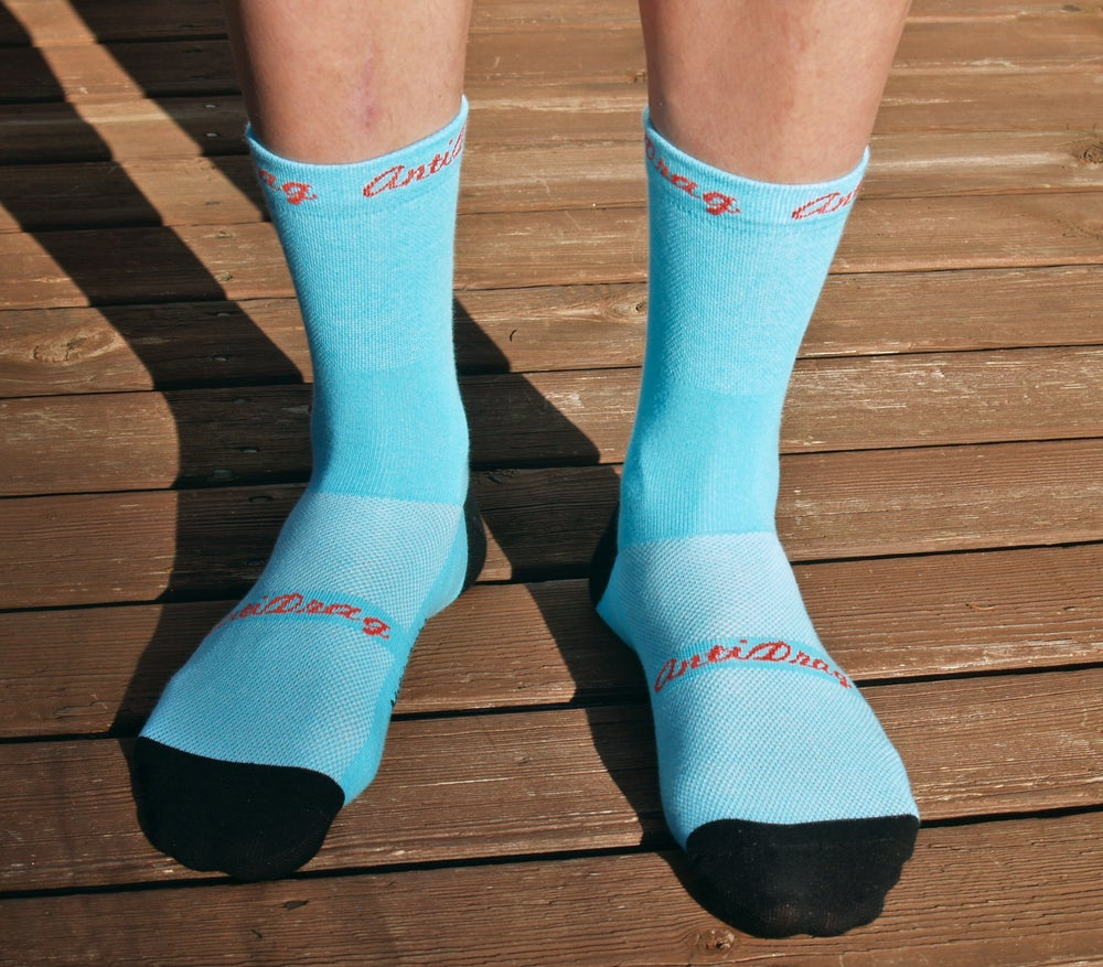 Image of 5 inch Classic Cycling Sock - Turquise