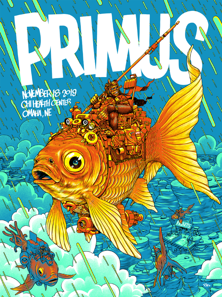 Image of Primus - Omaha 2019 Fish - Screen Print