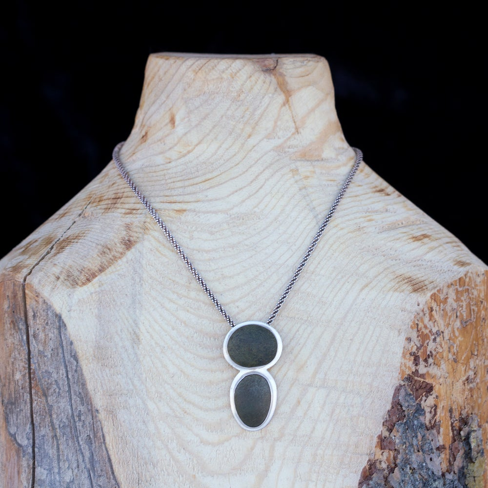Image of Nature Nymph Necklace • Silver & Stone