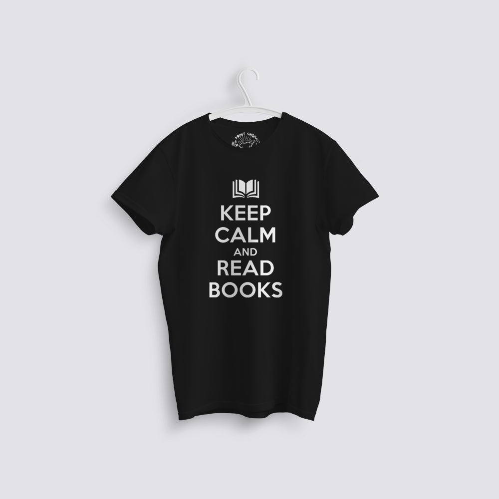 Image of Keep Calm and Read Books T-Shirt