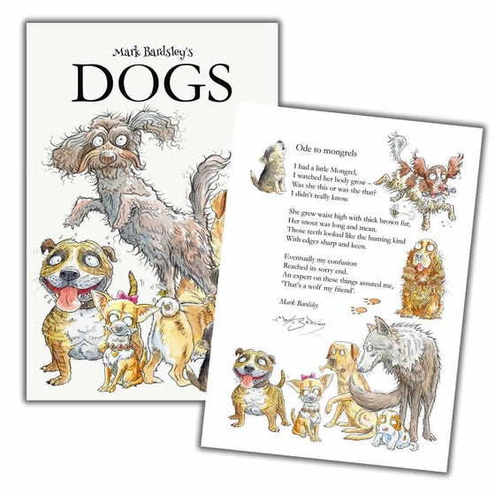 Image of DOGS Poetry Book by Mark Bardsley [signed and numbered]