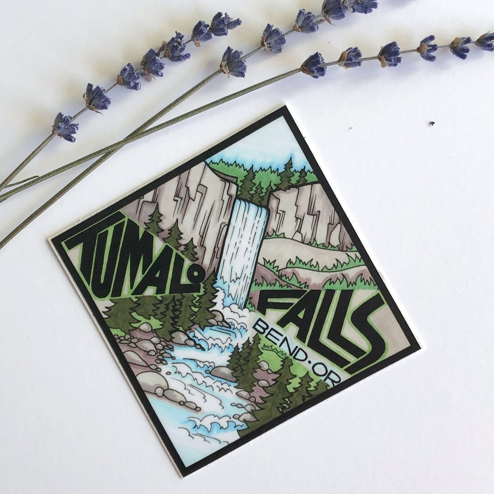 Image of Tumalo Falls sticker