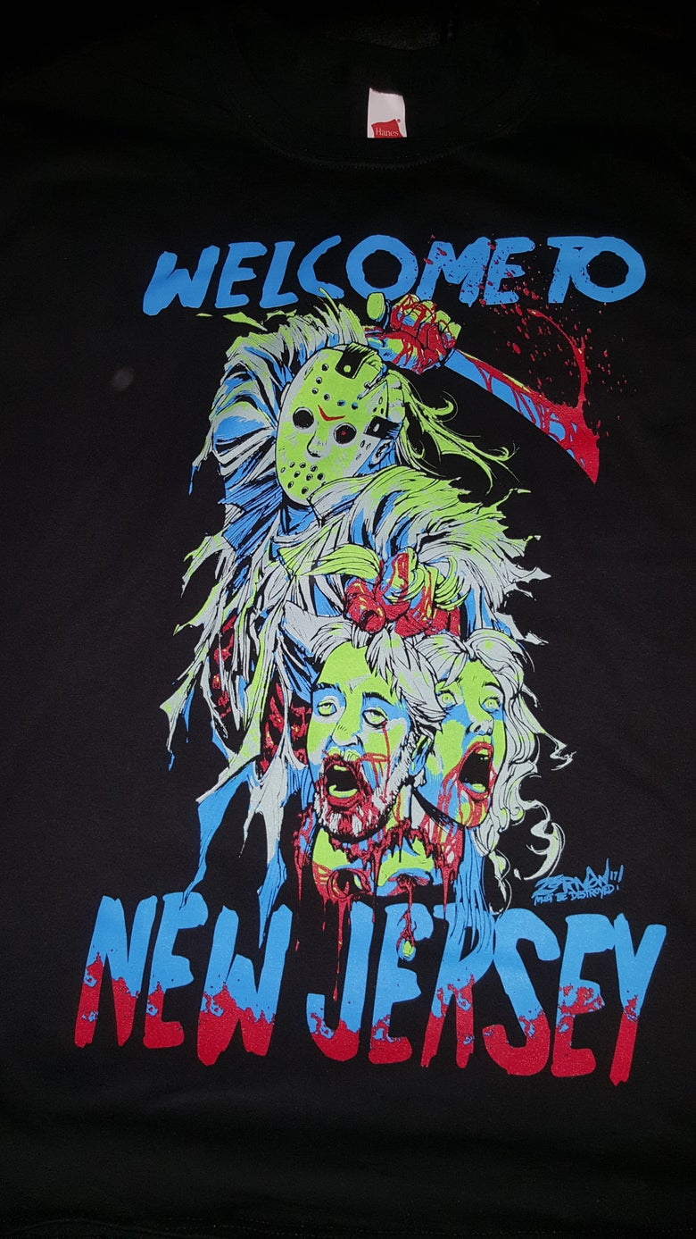 Image of WELCOME TO NEW JERSEY T SHIRT (IN STOCK)