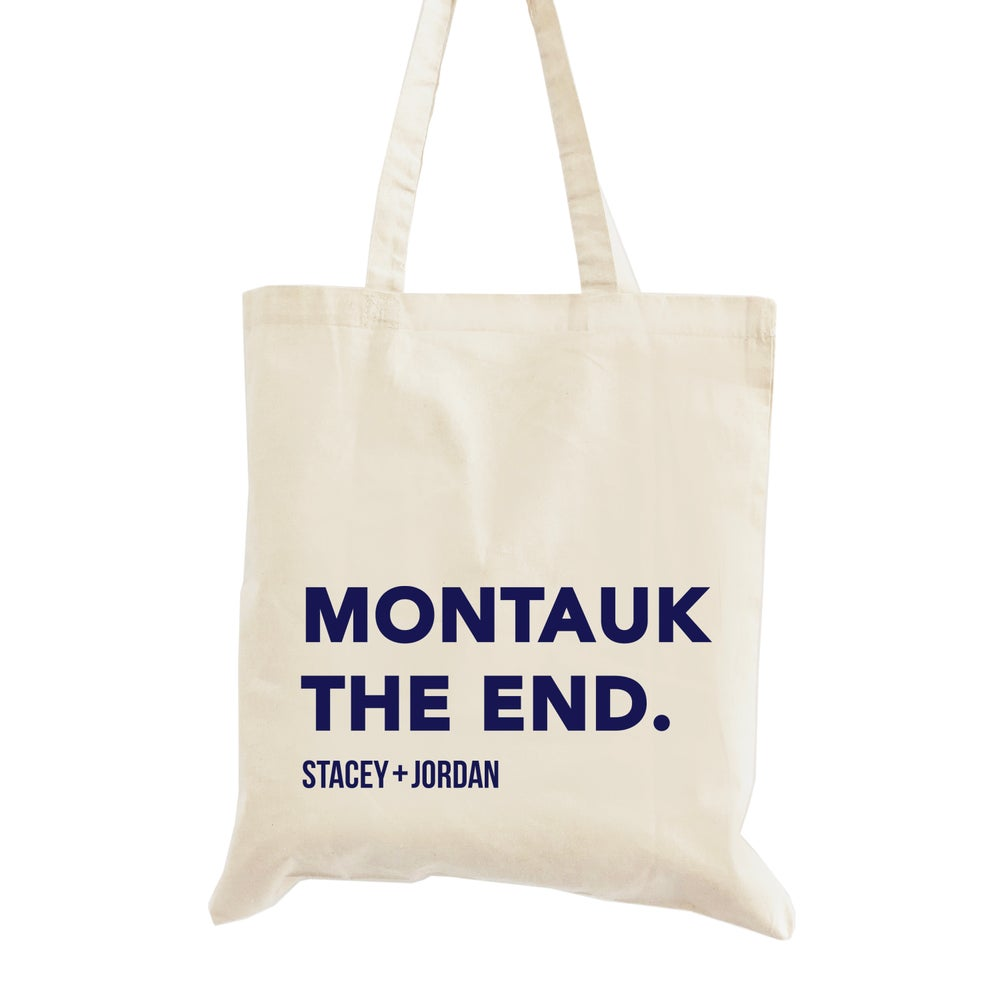 Image of Montauk the End Wedding Welcome Tote Bag