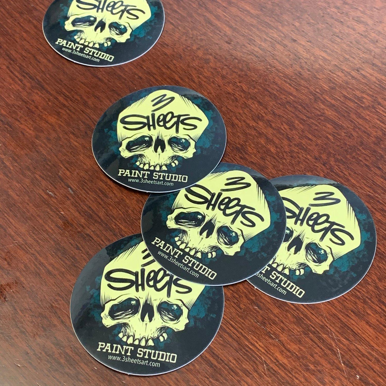 Image of 3 Sheets Bone & Brush sticker