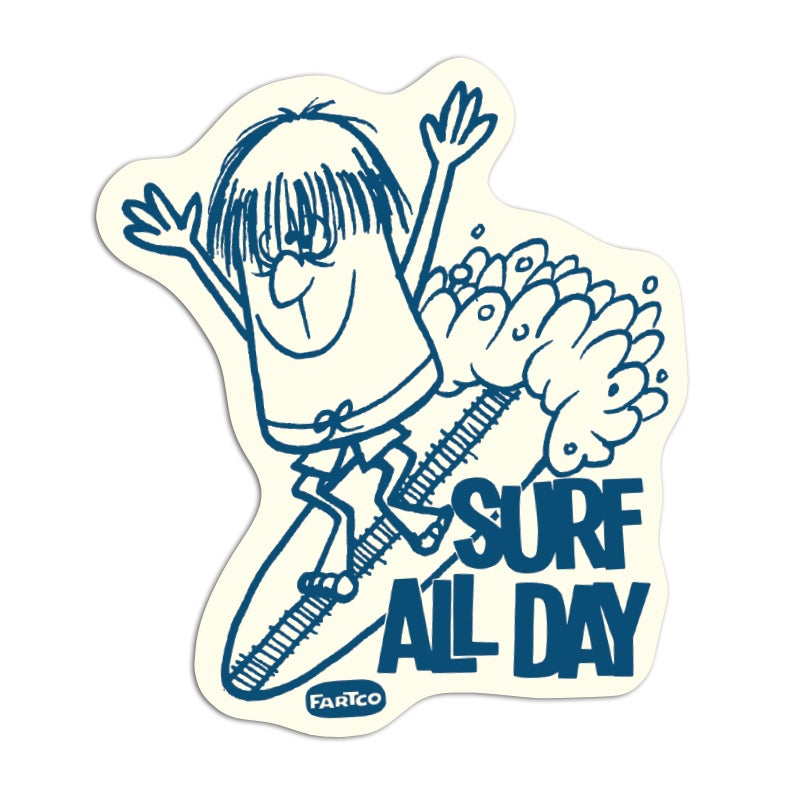 Image of Surf All Day Sticker