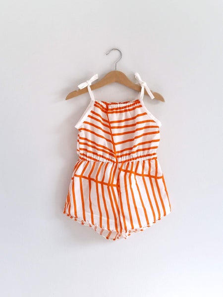 Image of Retro Playsuit - Tangerine