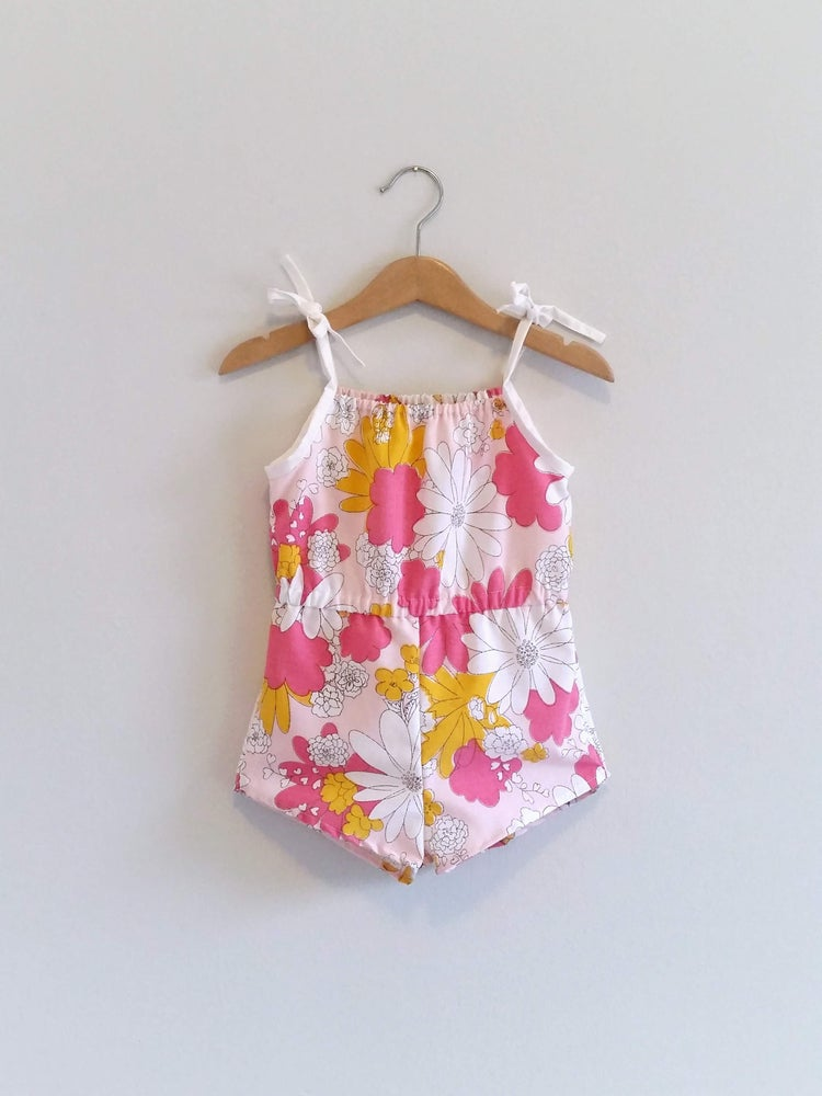 Image of Retro Playsuit - Pink Lemonade