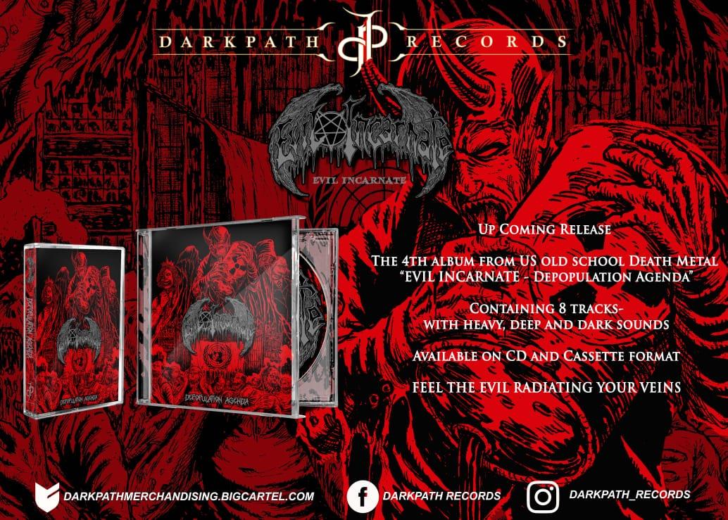 Image of EVIL INCARNATE - Depopulation Agenda CD & Tape