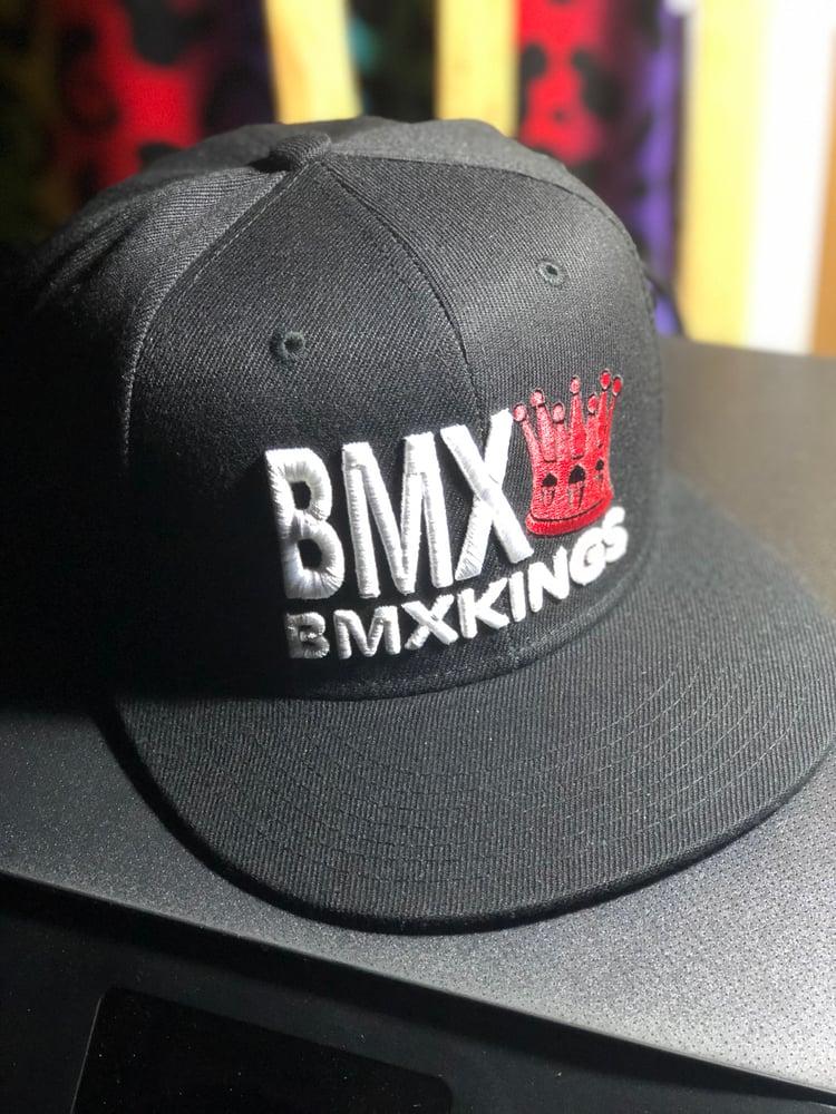 Image of Bmxkings Red Crown Snapbacks / Black
