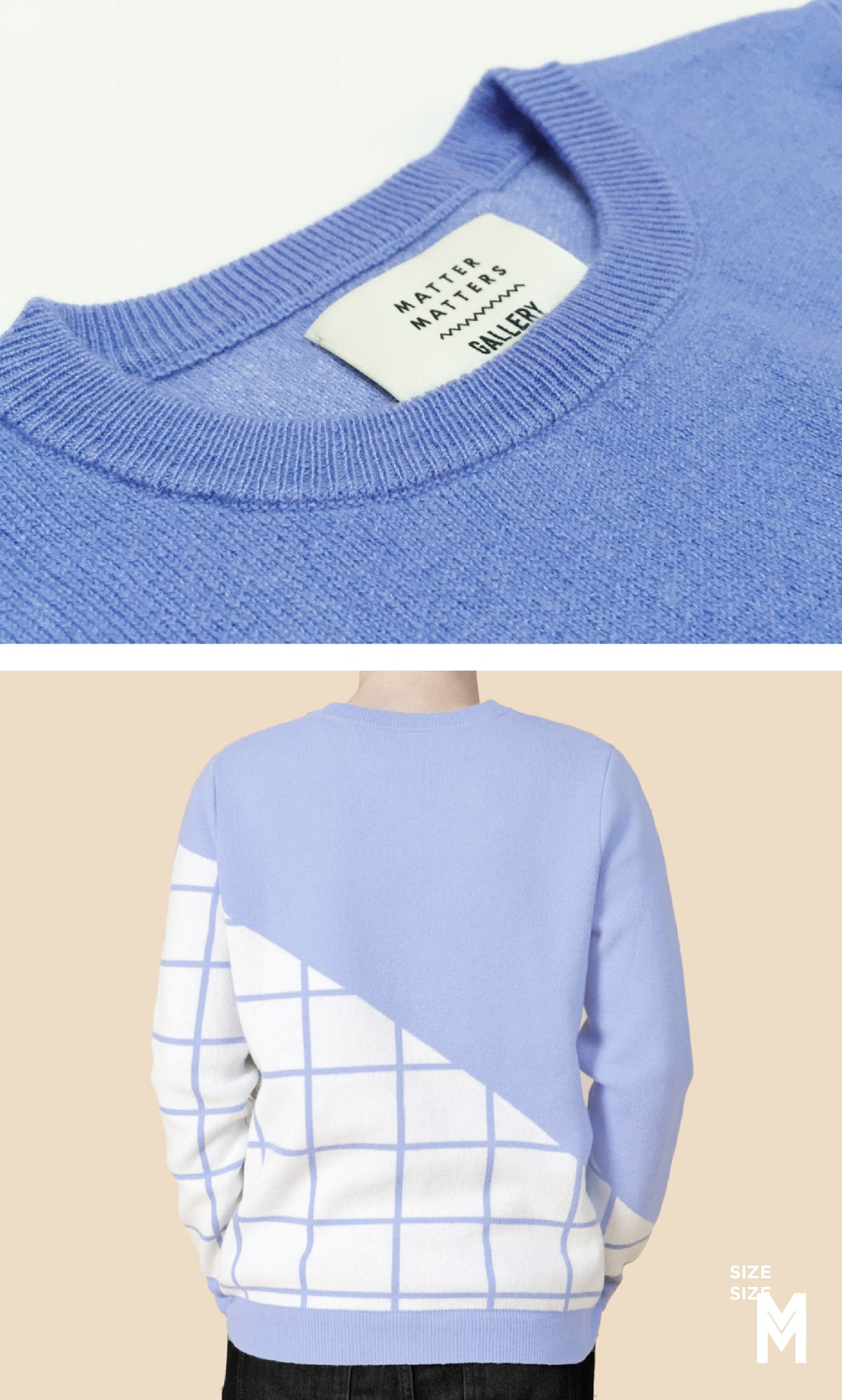 Image of Grids Crew Neck Wool and Cashmere-Blend Pullover - SLATE BLUE