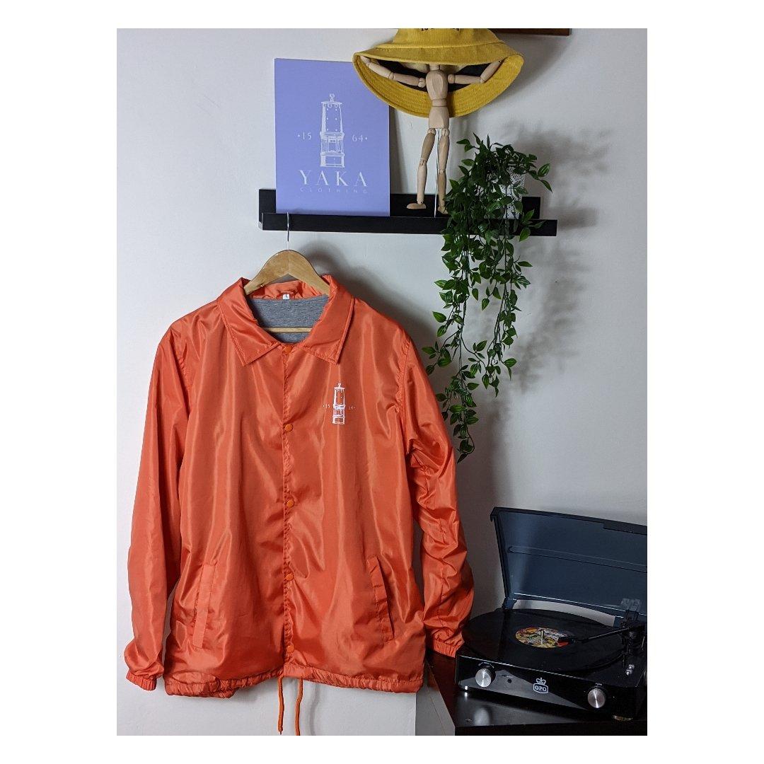 """Image of Yaka Clothing""""Paisley"""" Coaches Jacket (Orange)"""