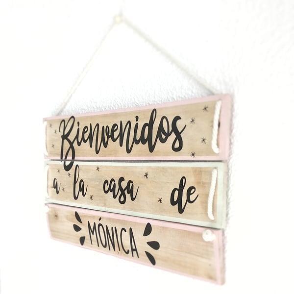 """Image of Cartel """"Bienvenidos"""" personalizado"""