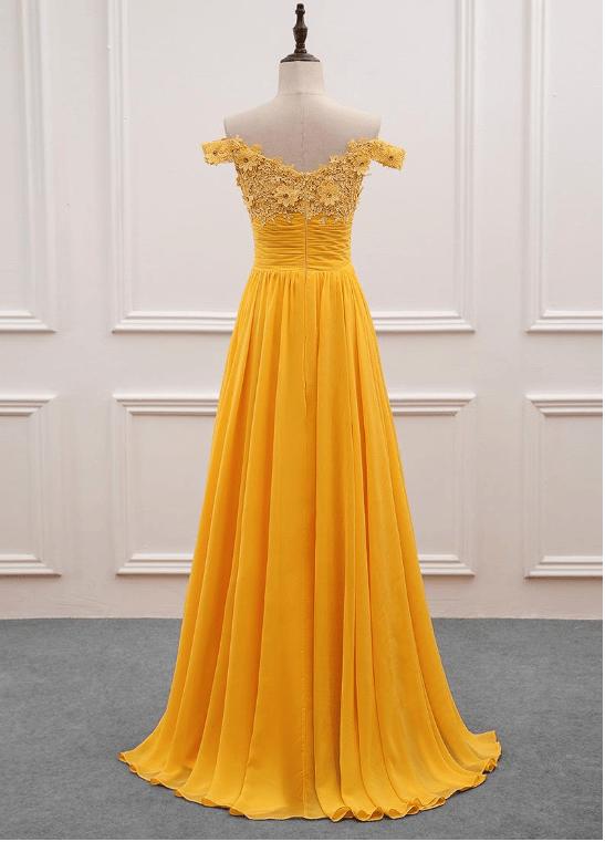 Pretty Long Chiffon Long Party Gown, A-line Prom Dress 2020