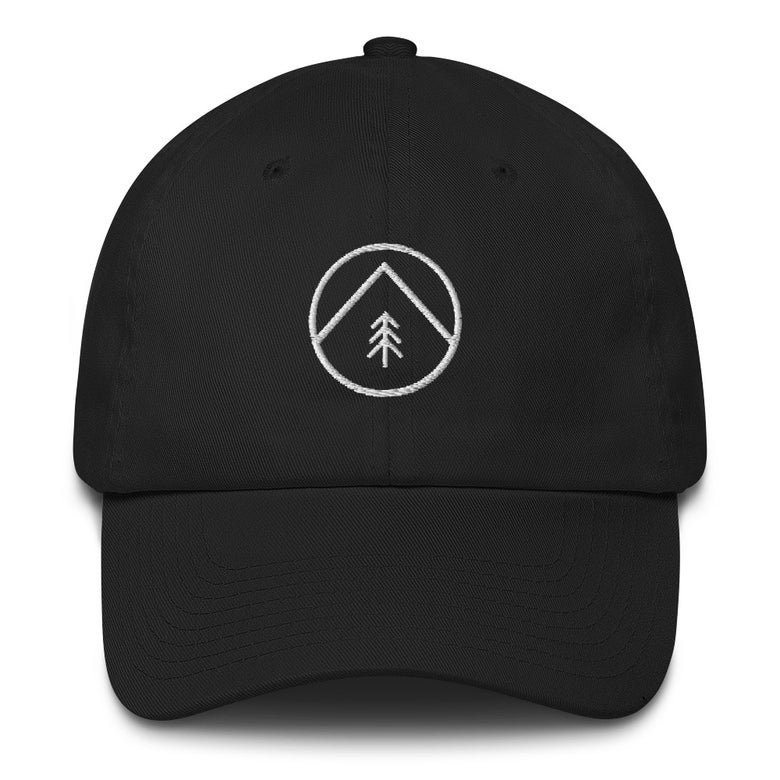 "Image of ""Tree & Mountain"" Embroidered Logo Dad Hat"