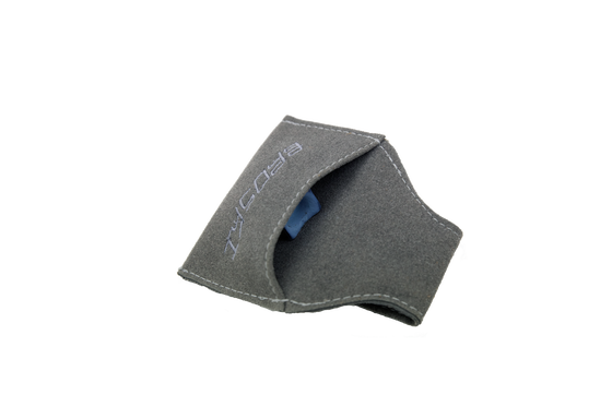 Image of BROSKI - CUE CHALK HOLDER GREY SUEDE