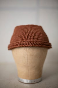 Image of HAT#3 - RUST COTTON /LINEN by Jan-Jan Van Essche