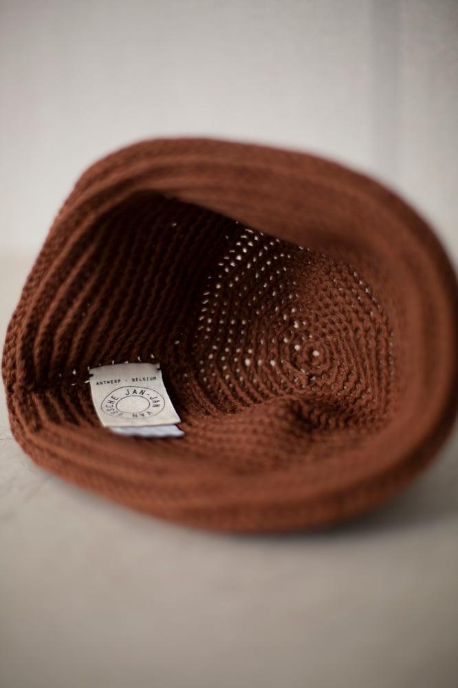 Image of HAT#3 - RUST COTTON /LINEN by Jan-Jan Van Essche