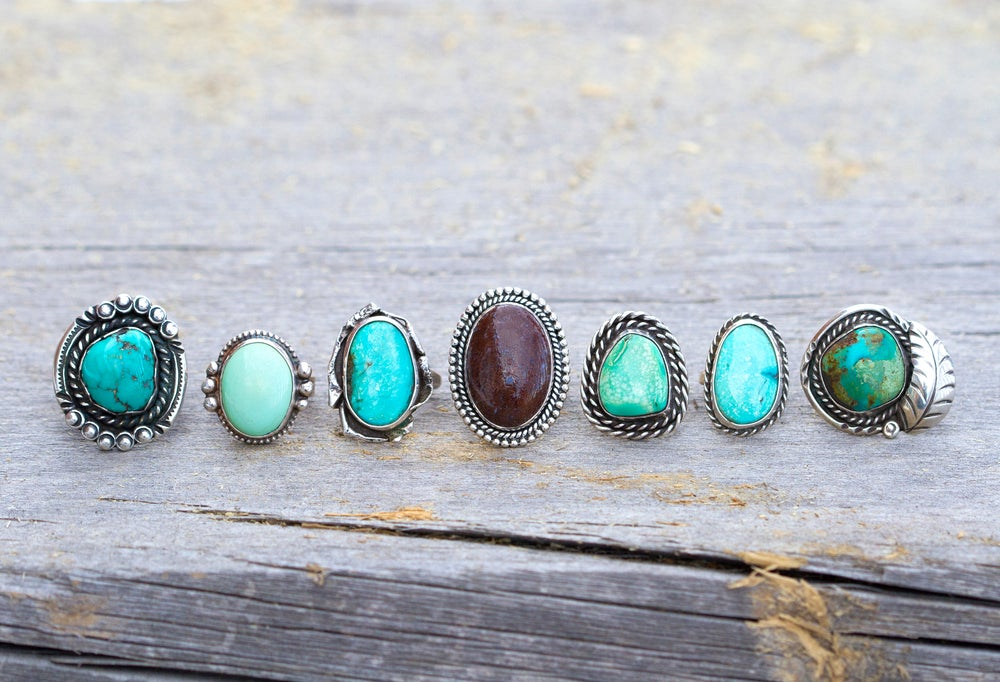 Image of True West Ring • Turquoise • Size 5