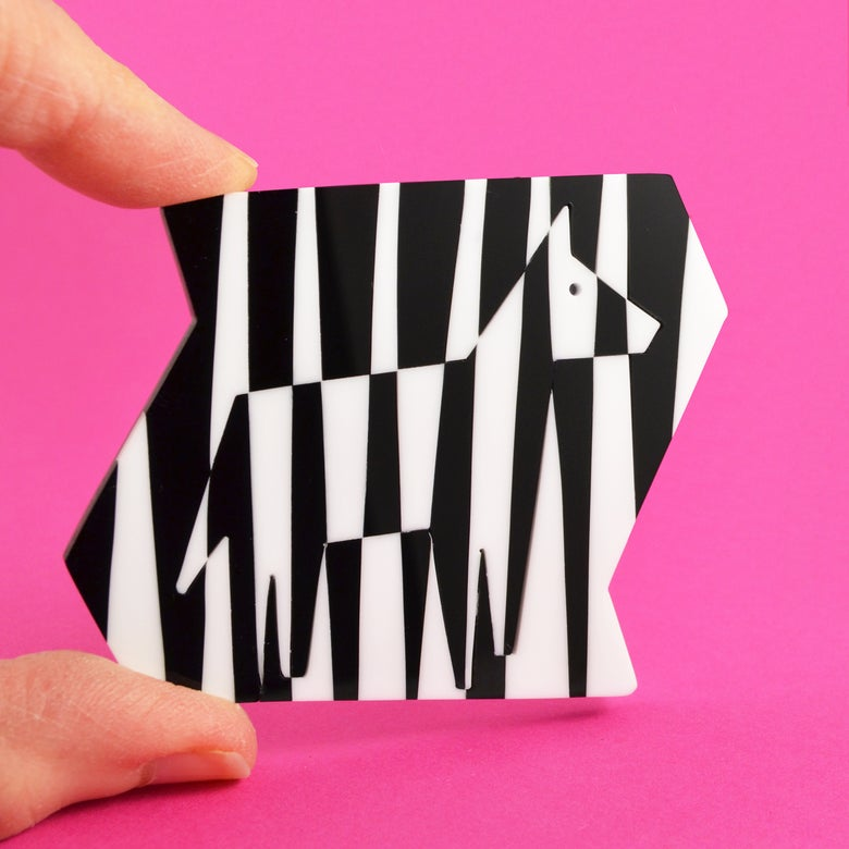 Image of Dazzle Zebra Brooch