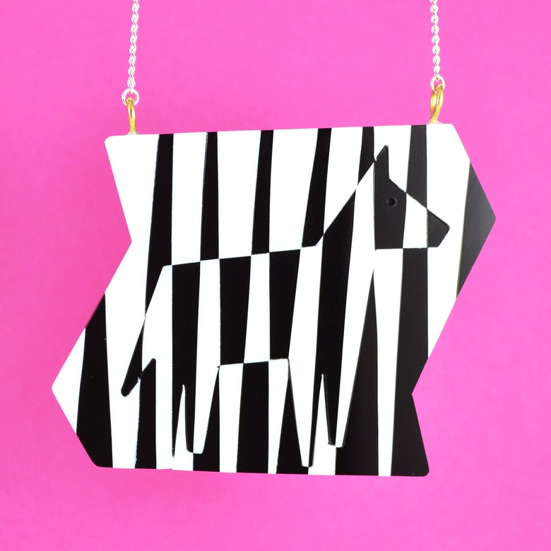 Image of Dazzle Zebra necklace
