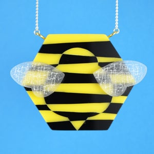 Image of Dazzle Bee necklace
