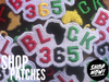 Black 365 Patches