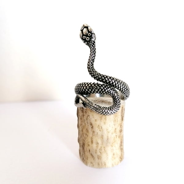 Image of Antiqued Serpent Ring