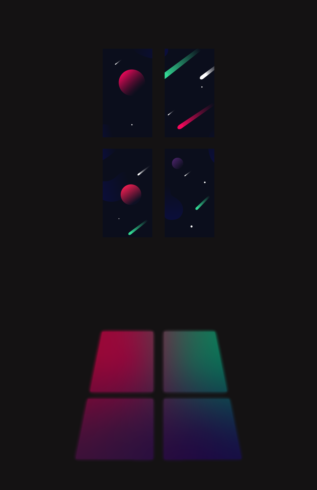 Space Window Print