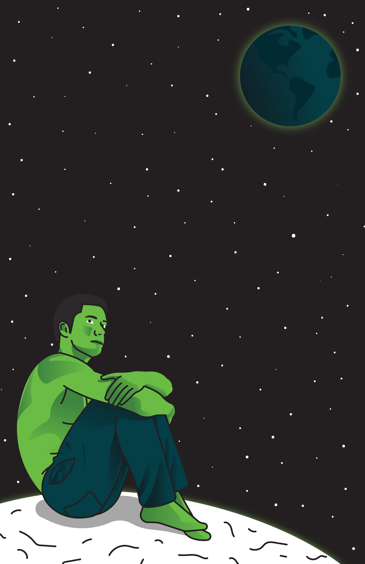 Alone In Space Print