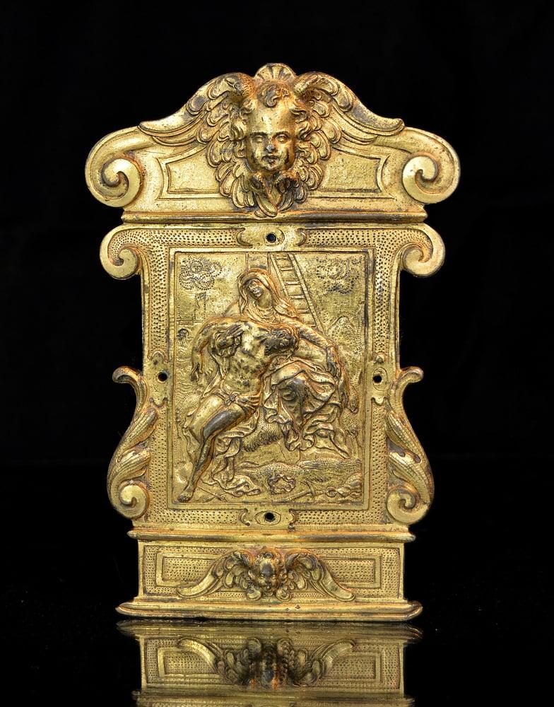 Image of A gilt bronze pax from the Workshop of Guglielmo della Porta