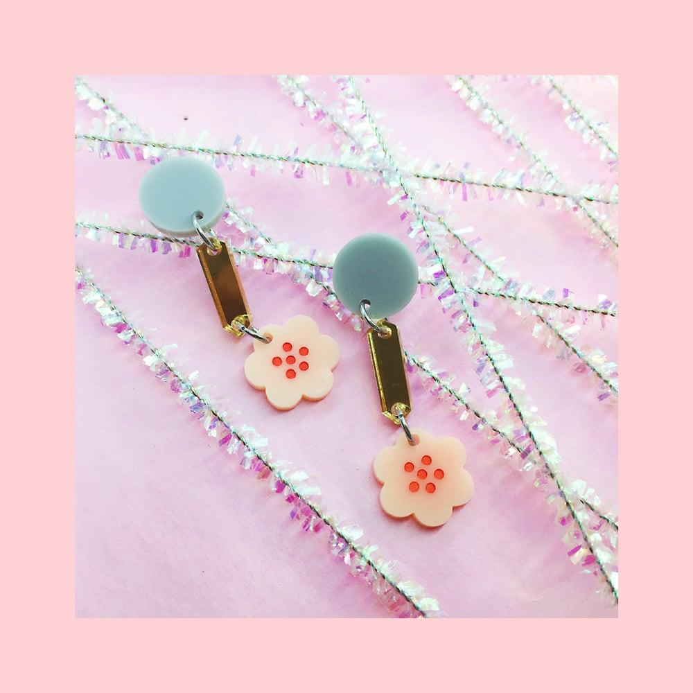 Image of Retro Blossoms - Mini (Peach-Pink/Gold/Grey)