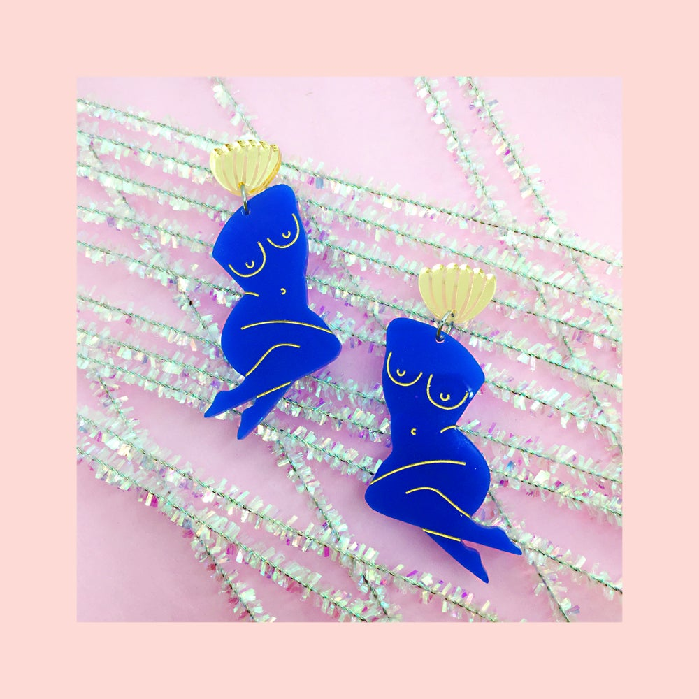 Image of Nude Lady Midi (Lapis Blue/Gold)