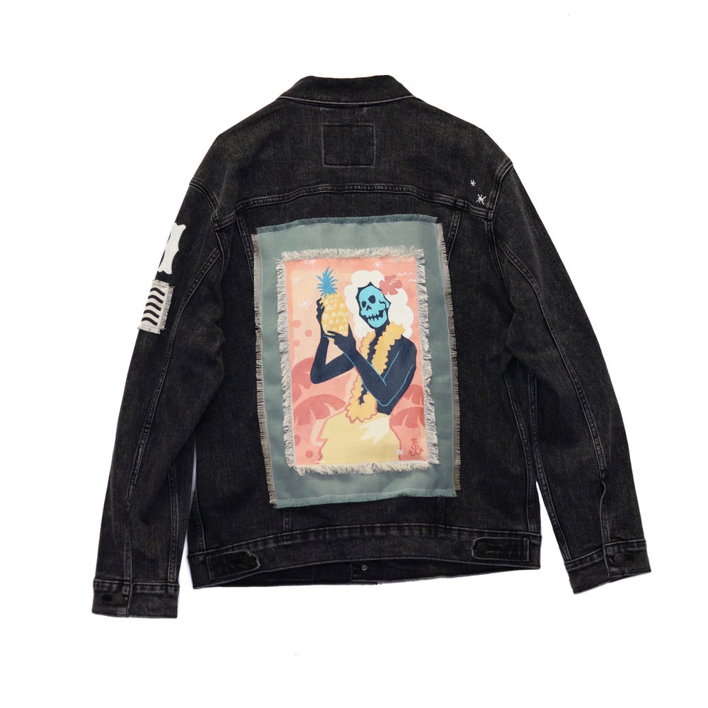 Image of Jack Soren x In4mation Denim Jacket No. 9/10.  Size XL