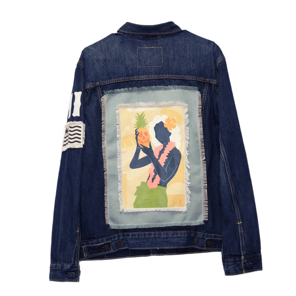 Image of Jack Soren x In4mation Denim Jacket No. 8/10.  Size L
