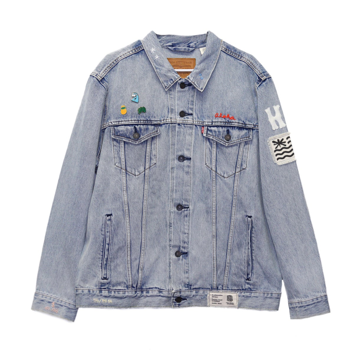 Image of Jack Soren x In4mation Denim Jacket No. 5/10.  Size XXL