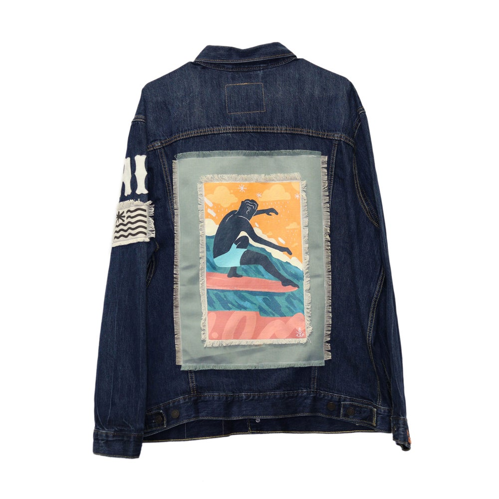 Image of Jack Soren x In4mation Denim Jacket No. 6/10.  Size XXL