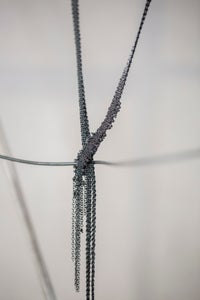 Image of SHAWL NECKLACE WITH BLACK RAW DIAMONDS by Stephanie Schneider