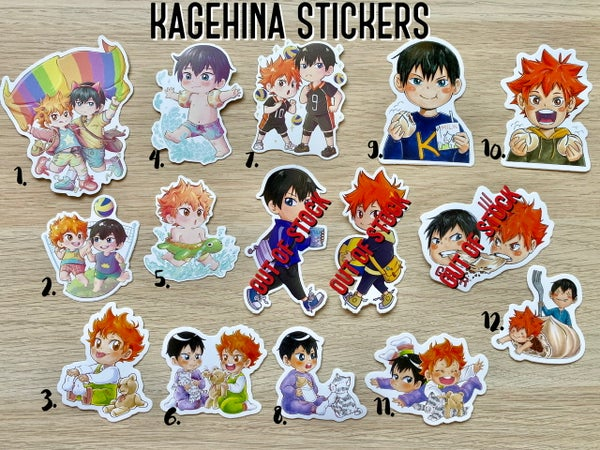 Image of Kagehina Stickers
