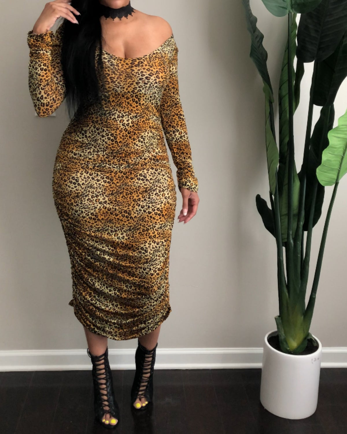 Cheetah Lady dress