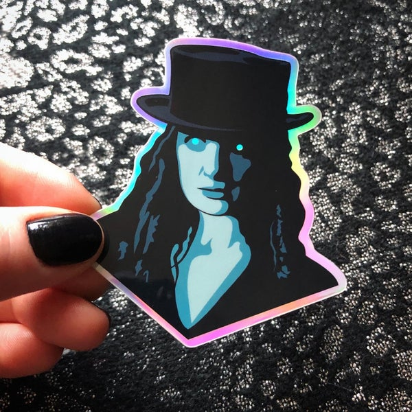 Image of ROSE THE HAT Holographic Vinyl Sticker