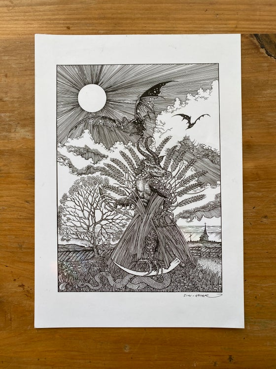 Image of A darkness that grew in the last wheat sheaf original